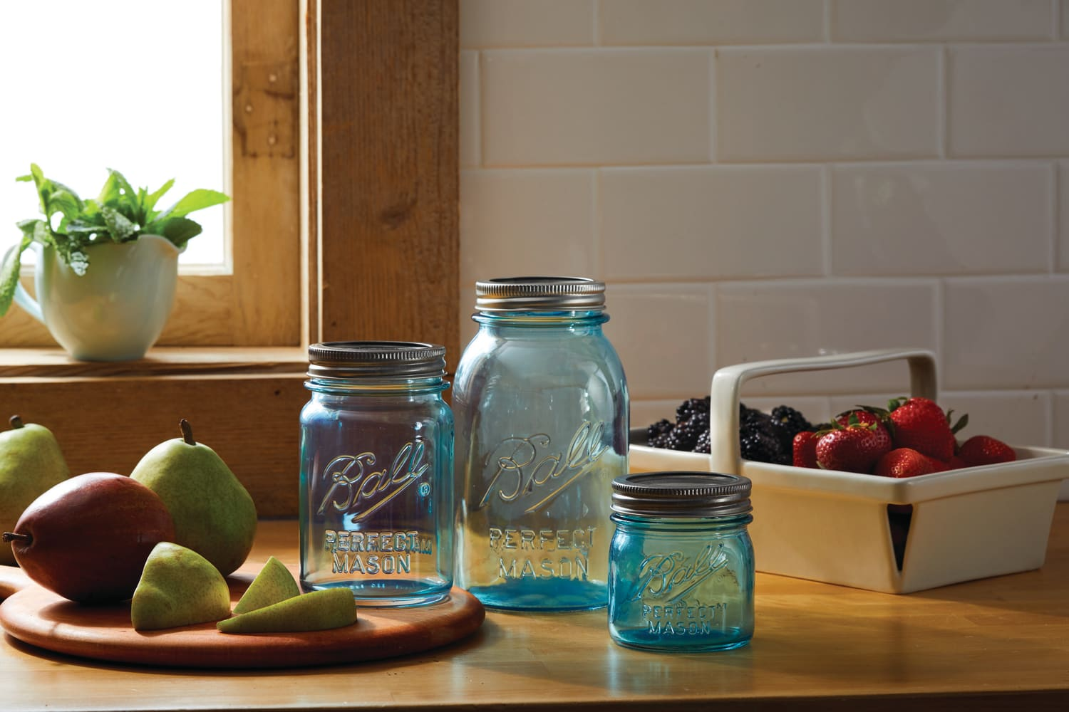Ball Just Released Limited-Edition Aqua Mason Jars for Their 135th Anniversary