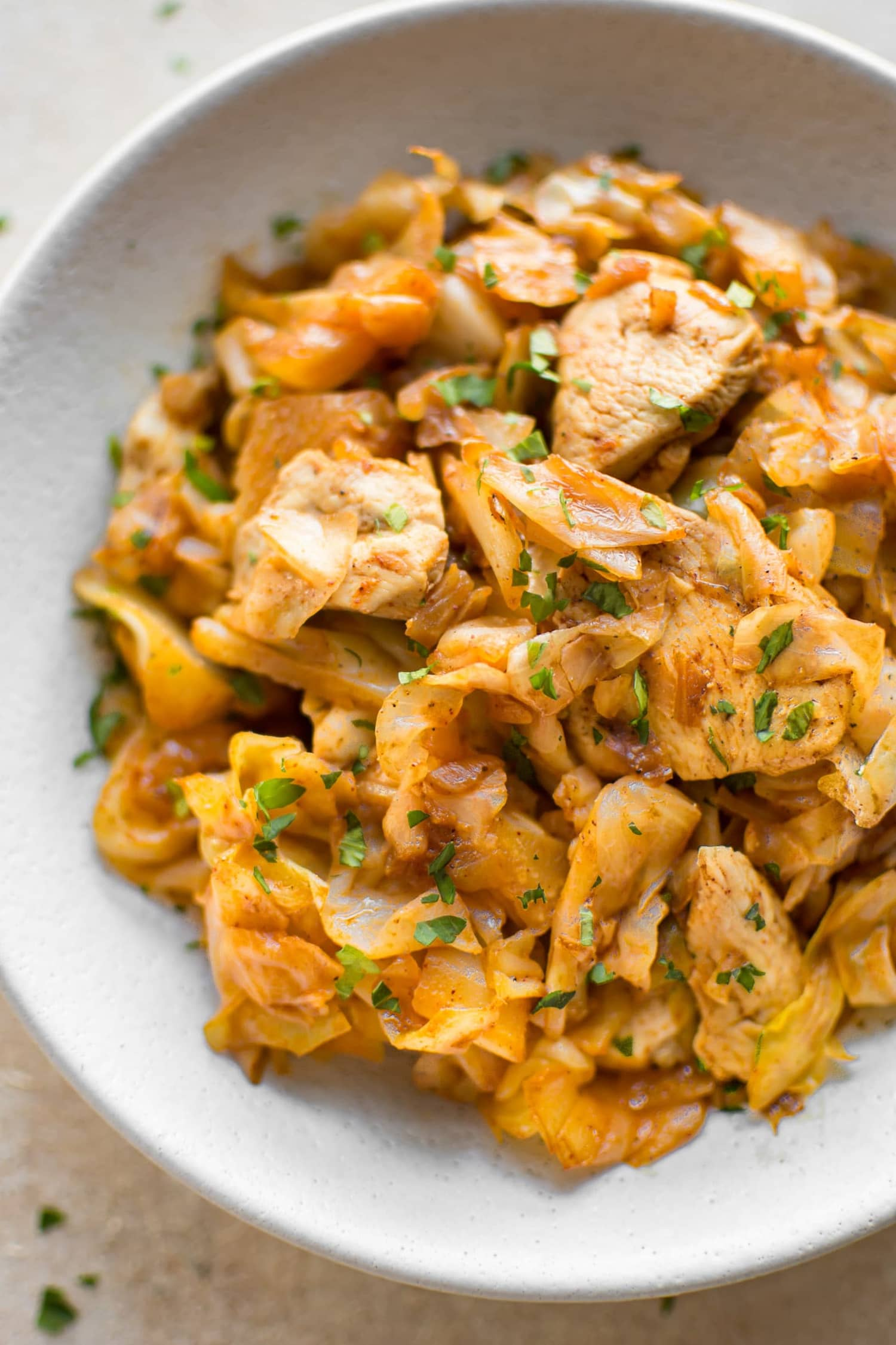 """Easy Chicken and Cabbage Stir-Fry Is Your Answer to """"What Should I Make for Dinner Tonight?"""""""