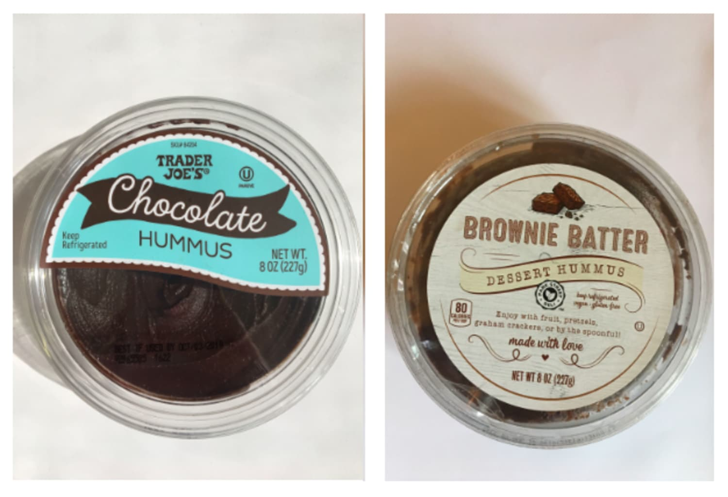 We Tried Chocolatey Dessert Hummus from Trader Joe's and Aldi — And We Were Shocked