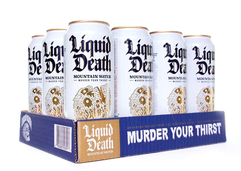 """Liquid Death"" Markets Water Like Beer. But, Like, Hardcore Beer."