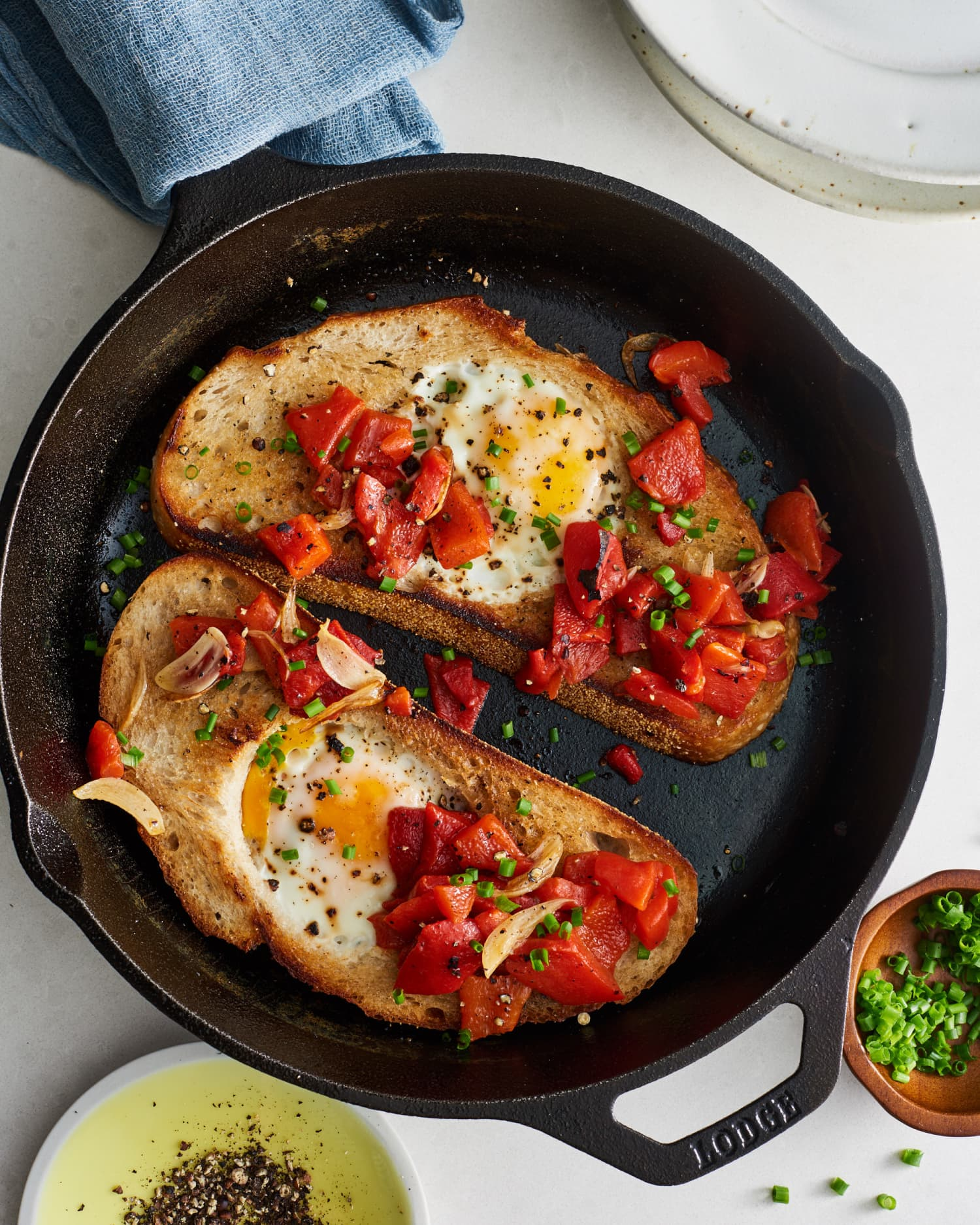 """""""Moonstruck Eggs"""" Are the Italian-American Twist on Egg-in-a-Hole You've Been Missing Out On"""