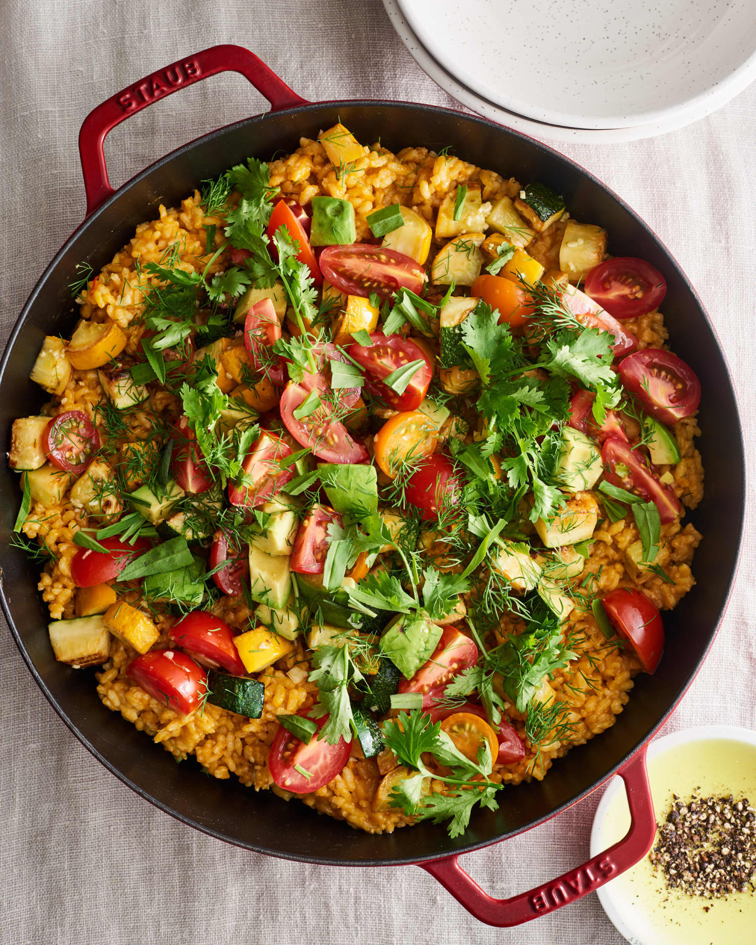 One-Skillet Veggie Paella Is the Perfect Summer Dinner