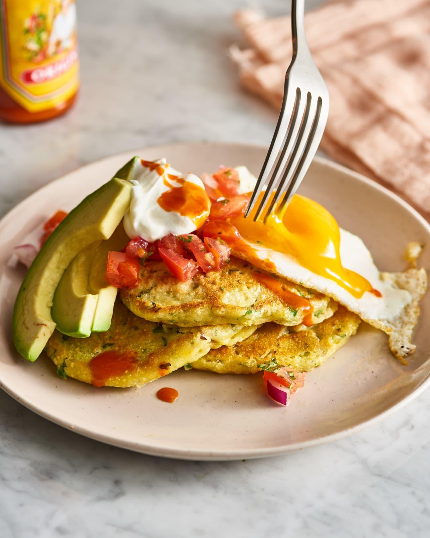 Savory Jalapeño, Lime, and Avocado Pancakes Are Like a Breakfast Fiesta