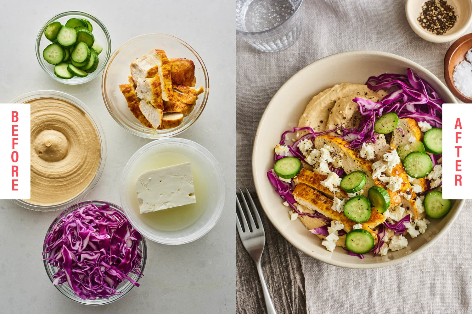 Eat Dip for Dinner with These 5-Ingredient Hummus Bowls