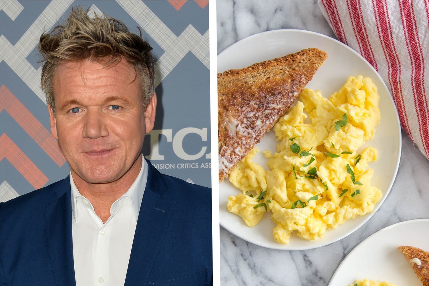 Gordon Ramsay's Trick for Extra-Easy Scrambled Eggs Is Lazy Perfection