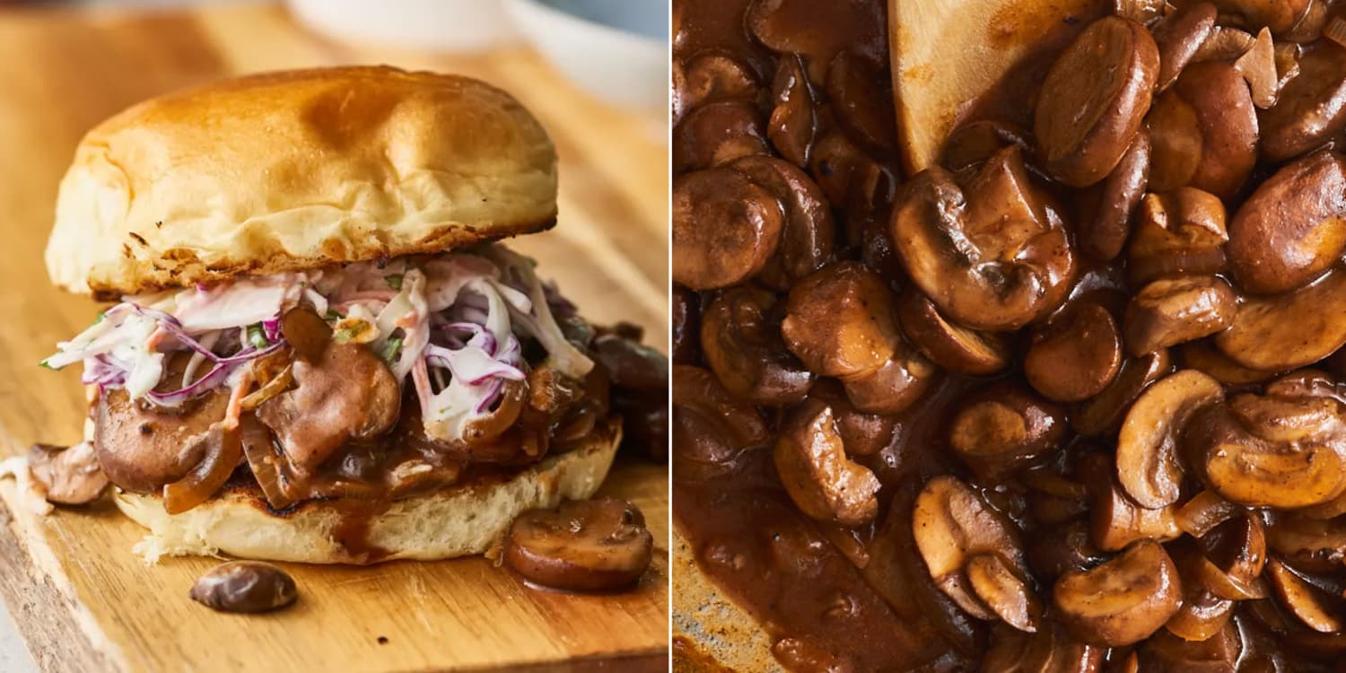 Mushroom BBQ Sandwiches Are the Wild, Unexpected Star of the Summer