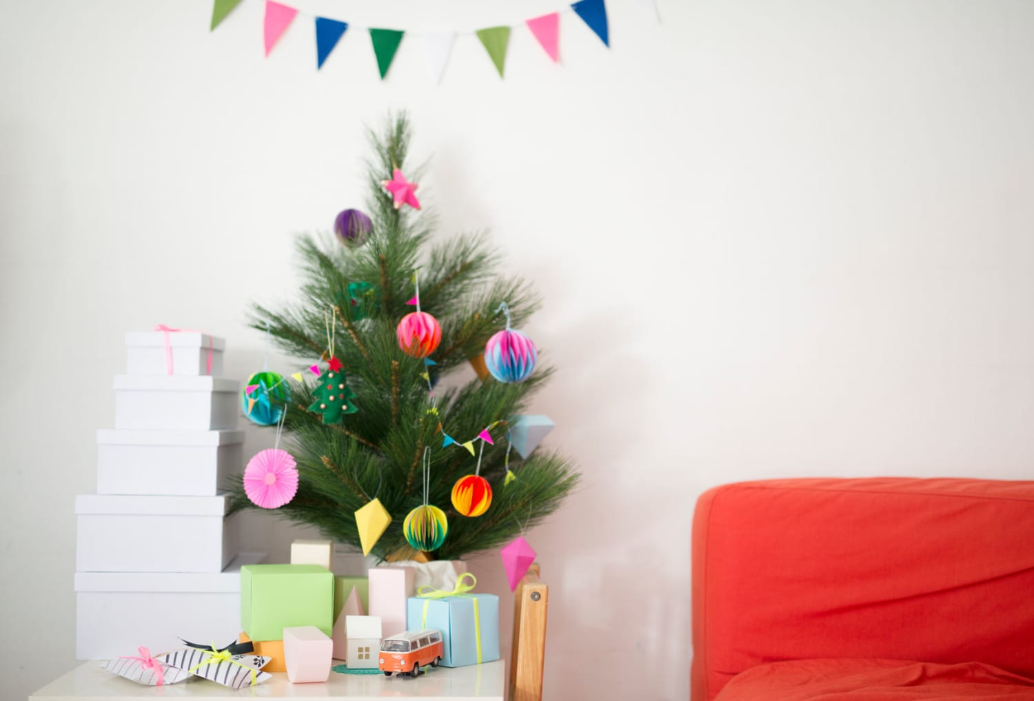 10 Faux Christmas Trees That'll Fit in Your Tiny Apartment