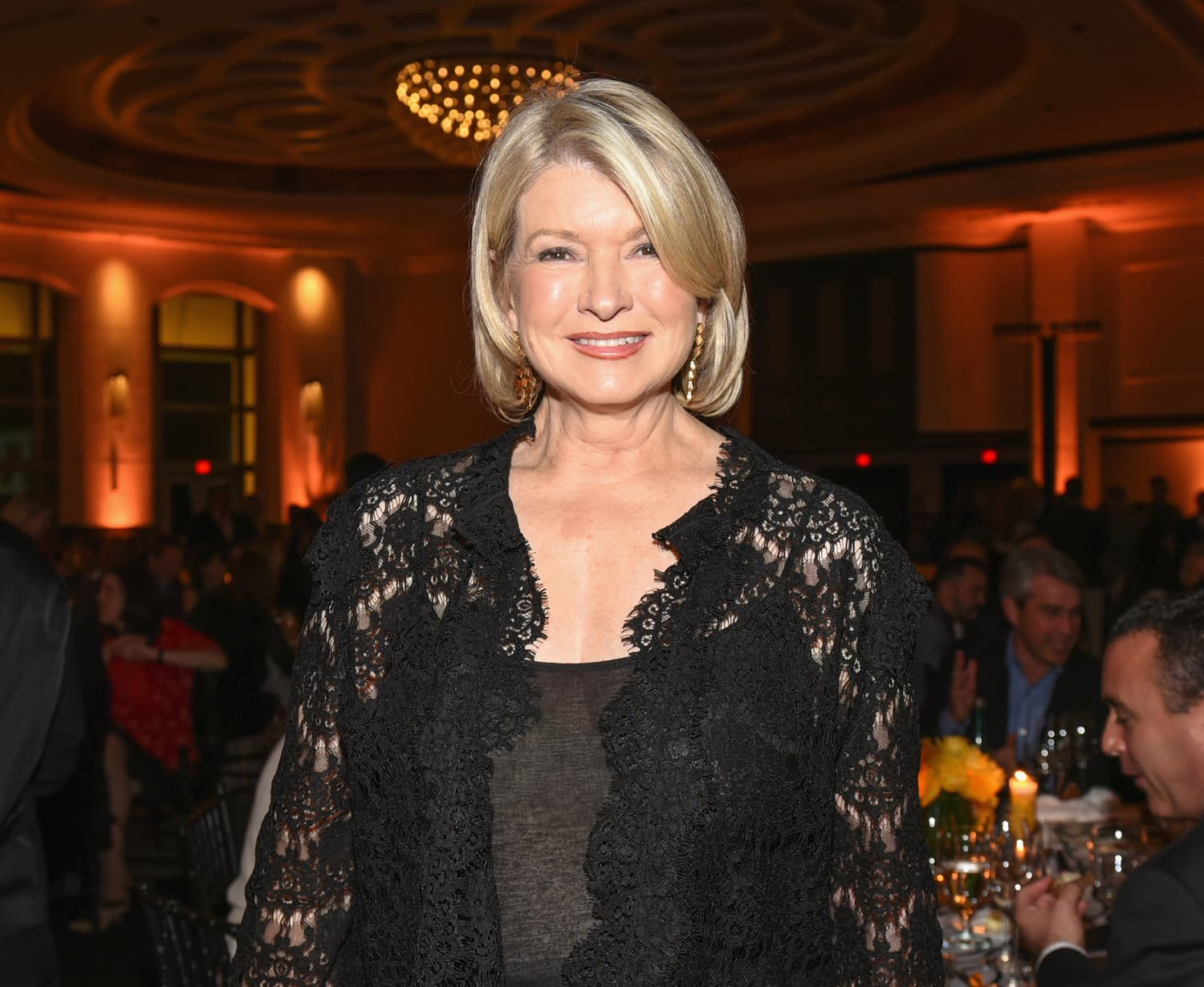 Martha Stewart's New Weird, but Delightful Party Trick Is Stacking Wine Glasses, I Guess?