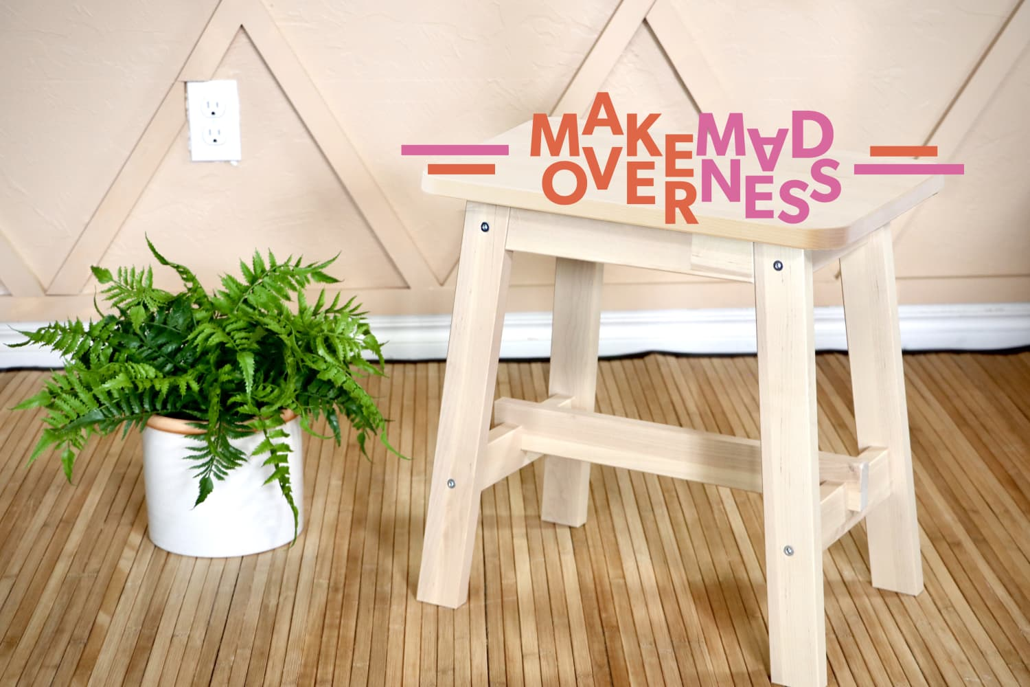 This DIYer Turned a Plain IKEA Stool into Something Much More Luxe for Under $50