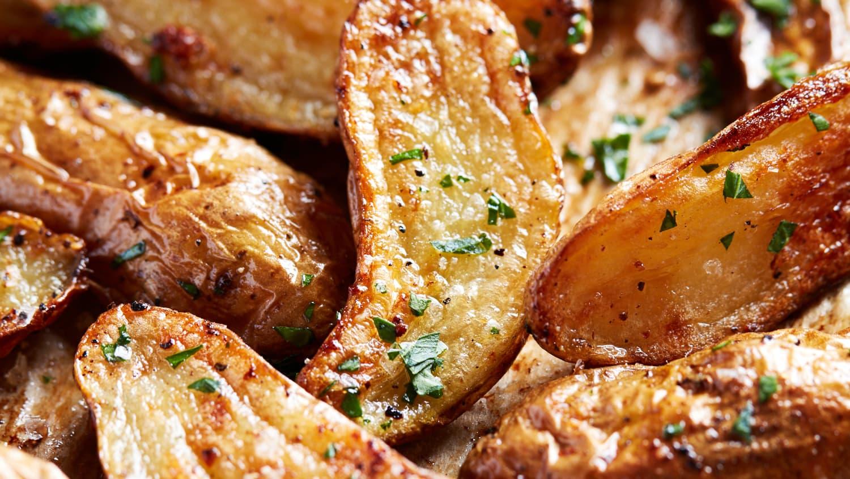 Roasted Garlic Butter Fingerling Potatoes