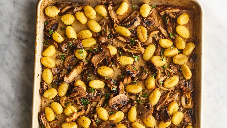 Mixed Mushroom Sheet Pan Gnocchi