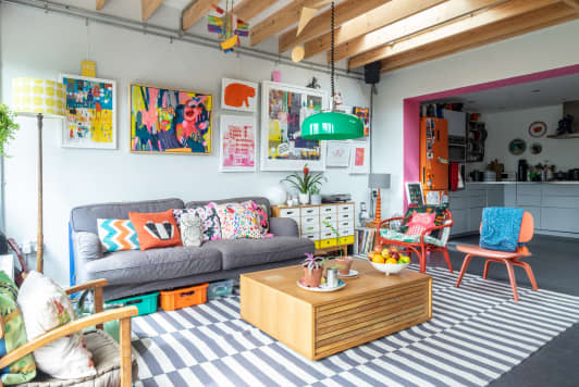 How This Illustrator Achieves a Colorful, Maximalist Home Without Looking Cluttered