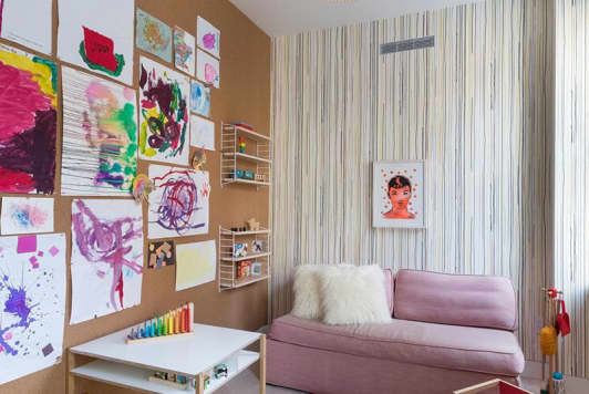 This Tiny, Colorful Playroom Has a Huge Statement Wall