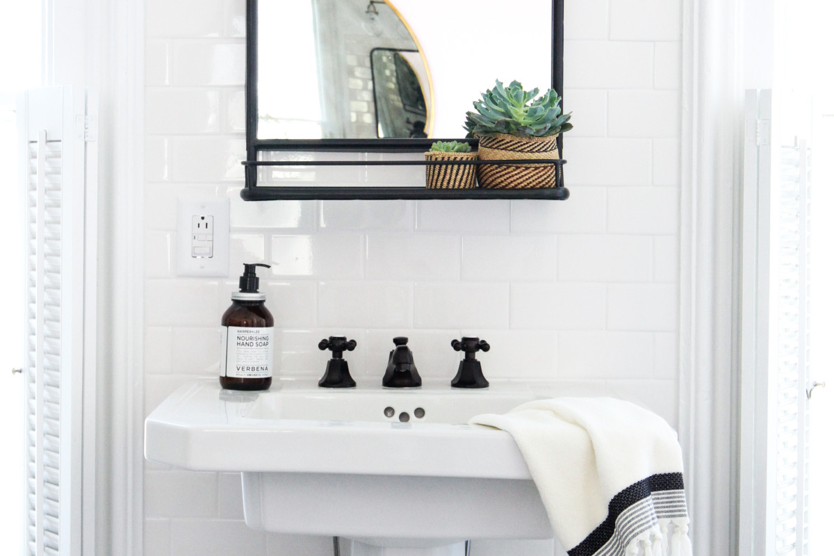Want More Decor for Your Money? Buy a Mirror with a Built-In Shelf
