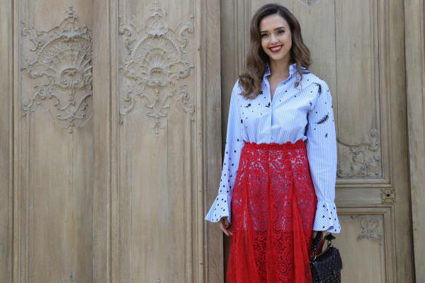 Jessica Alba's Dramatic Front Door Will Make You Green with Envy