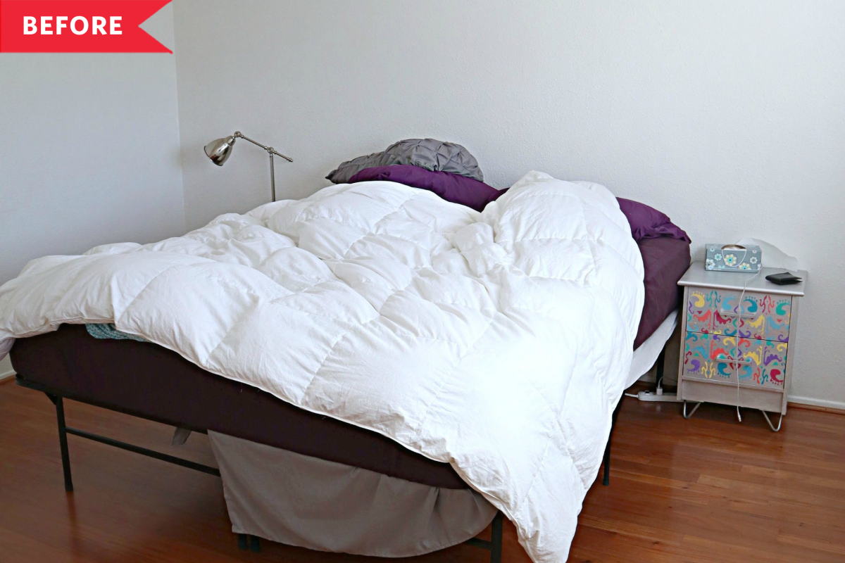 Before and After: This Bedroom's Colorful Redo Features Simple DIYs That Start at Just $3