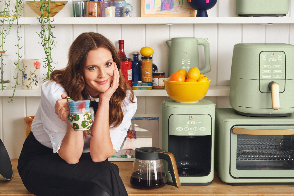 Drew Barrymore Gave a Sneak Peek into Her Kitchen Redo, and the Colors Are Everything