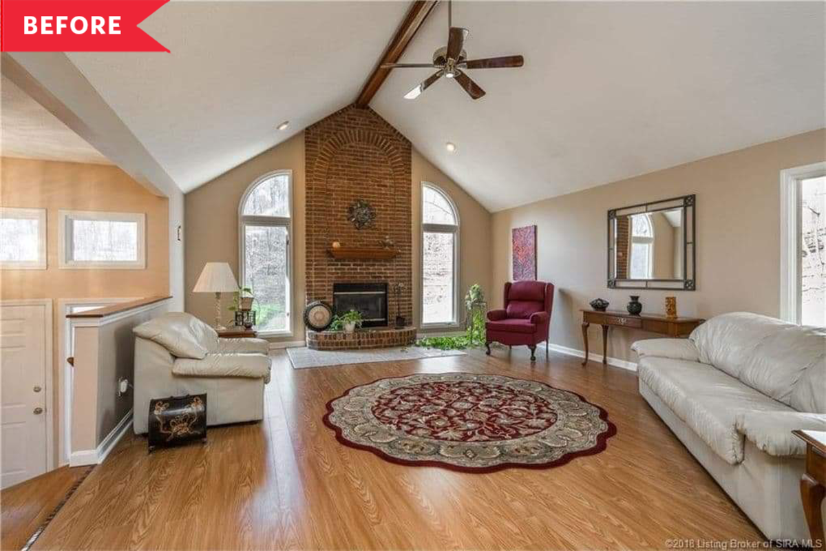 Before and After: This Living Room Redo Is a Perfect Balance of Airy and Cozy