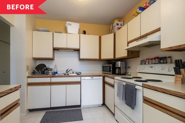 Before and After: A Dim, Dated Kitchen Is Unrecognizable After a Glam Overhaul