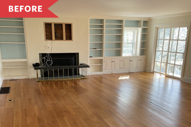 Before and After: See How a Home Stager Opened up a Living Room with White Paint
