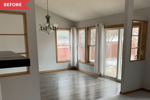 Before and After: A Dim Dining Room Gets an Unrecognizable Open Concept Redo