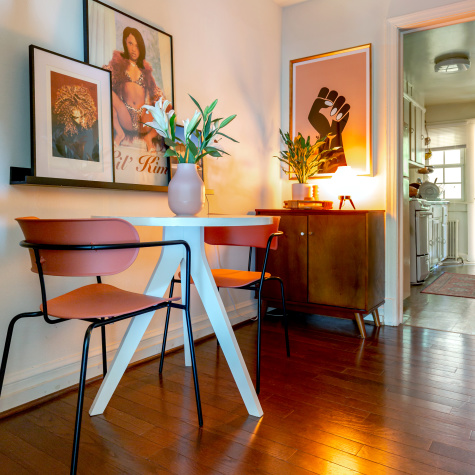 A Small Rental Apartment Wisely Harnesses Hidden (and Open!) Storage Solutions