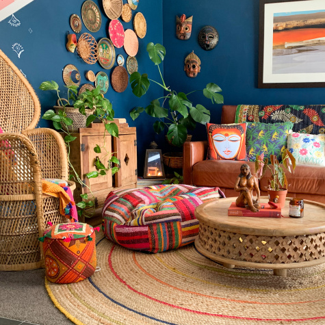 This Family of Four's House Is Colorful, Mural-Filled, and India-Inspired