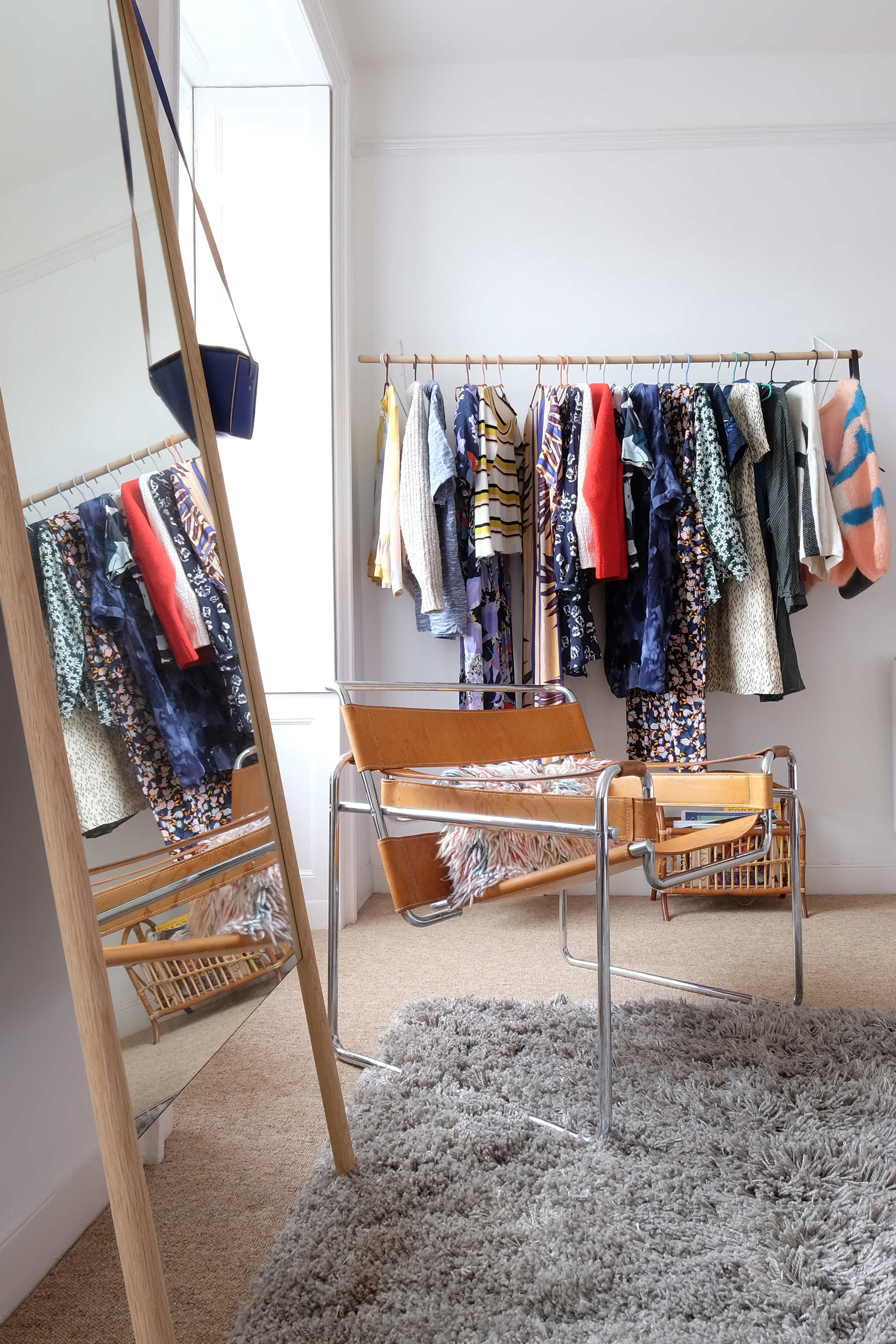 How To Create A Bedroom Closet With Clothing Racks Apartment Therapy