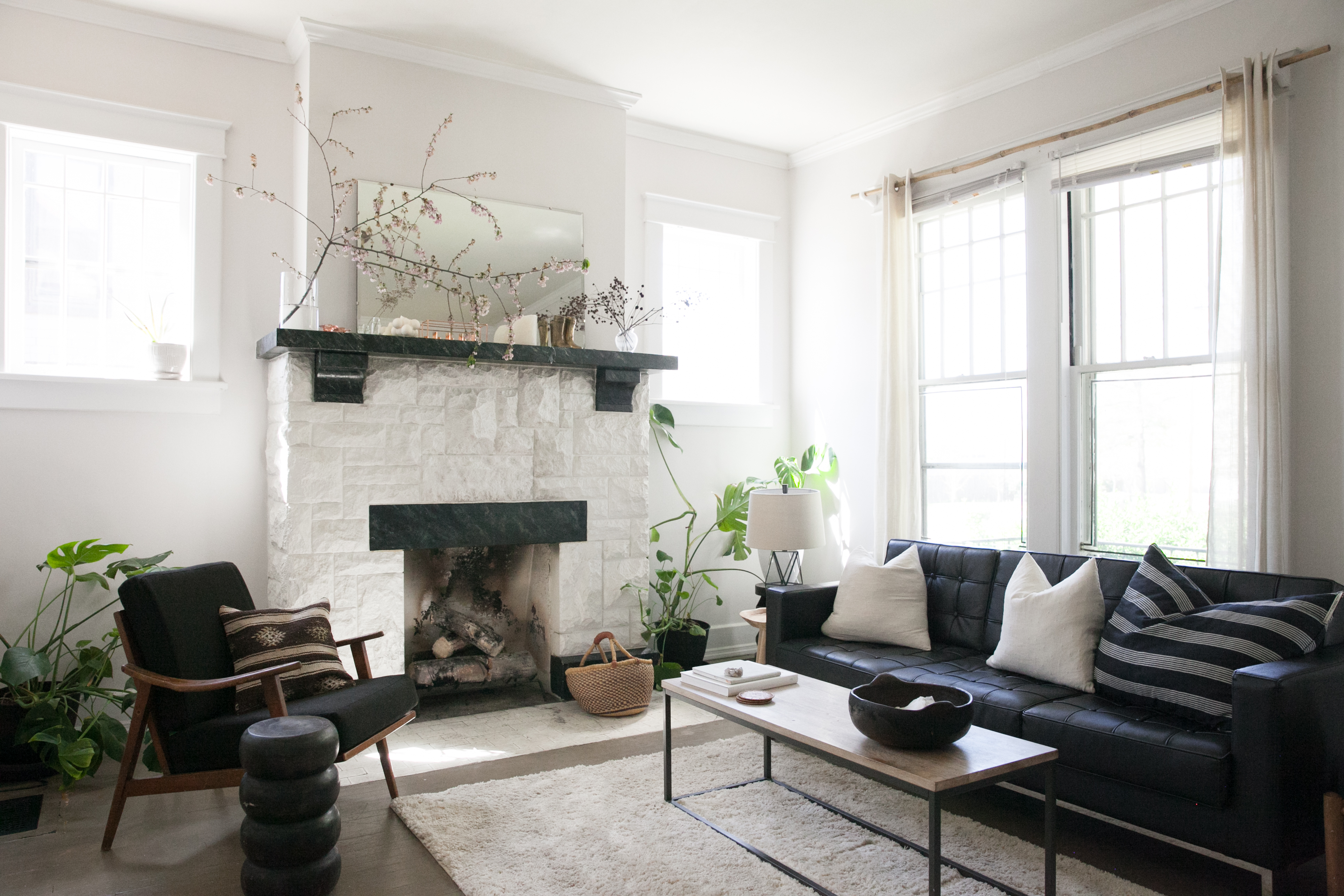 2 sofas in living room