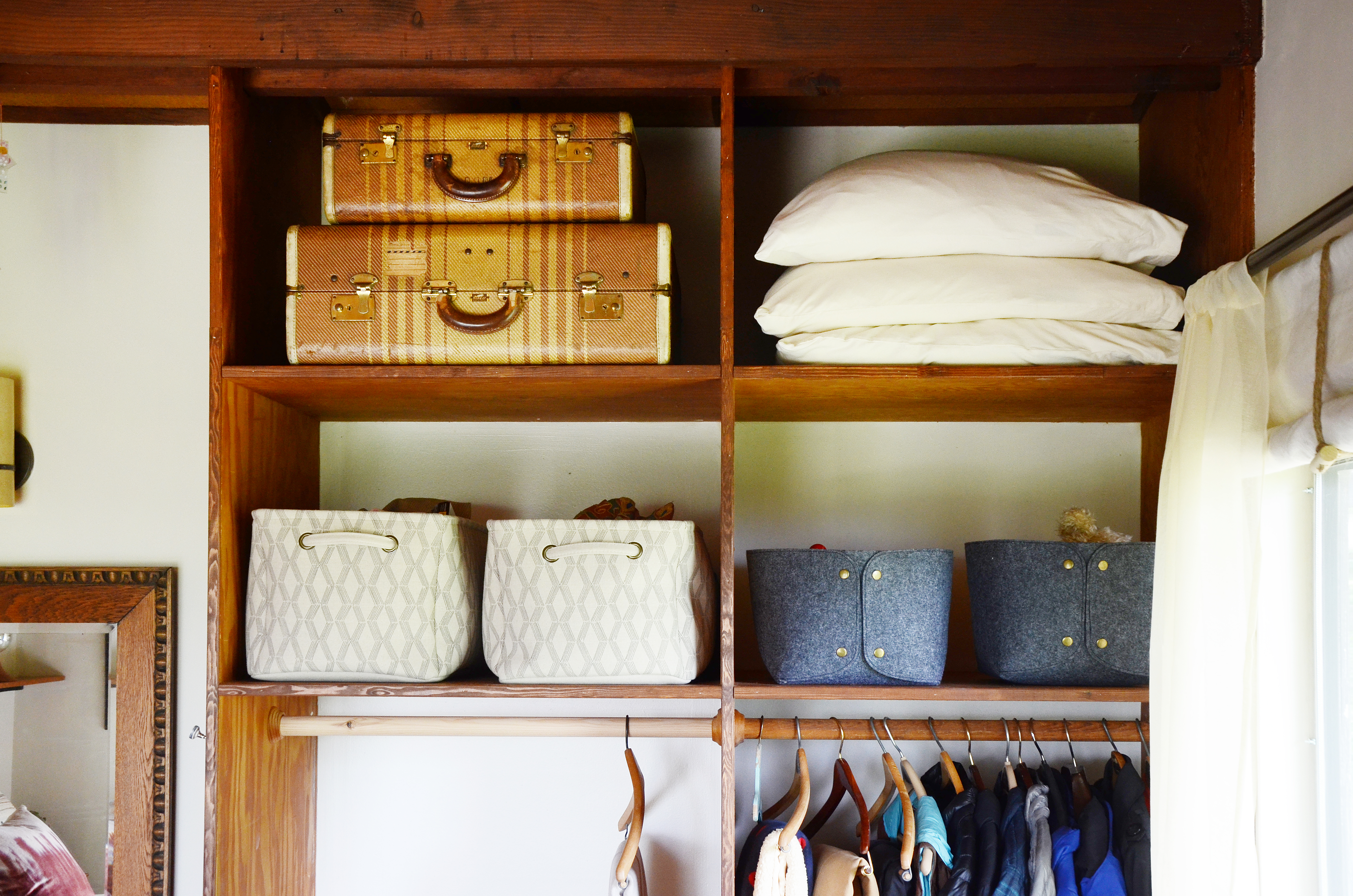 Closet Storage Ideas Small Closet Organization Apartment Therapy