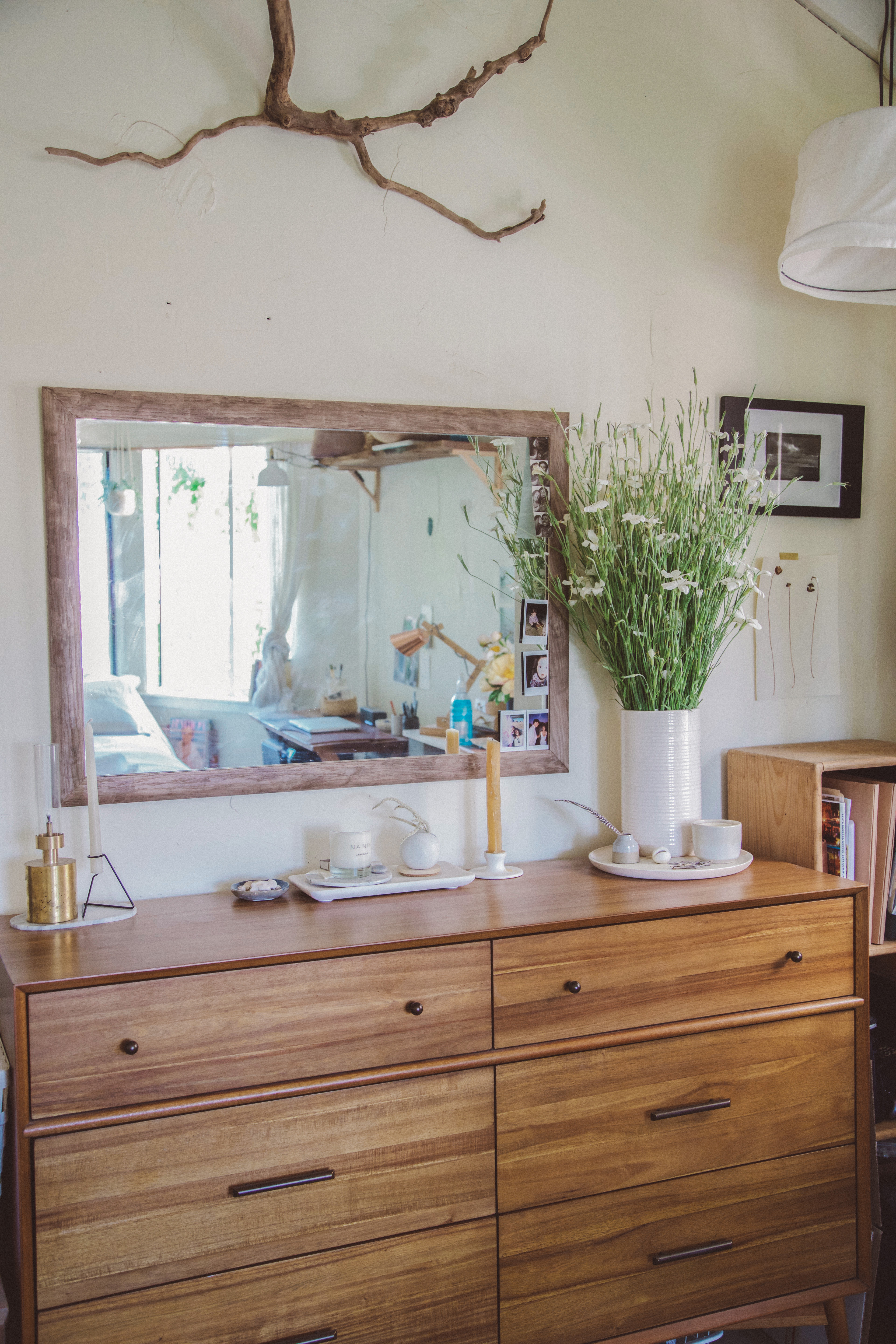 How to Style the Top of a Dresser   Dresser Decorating Ideas ...