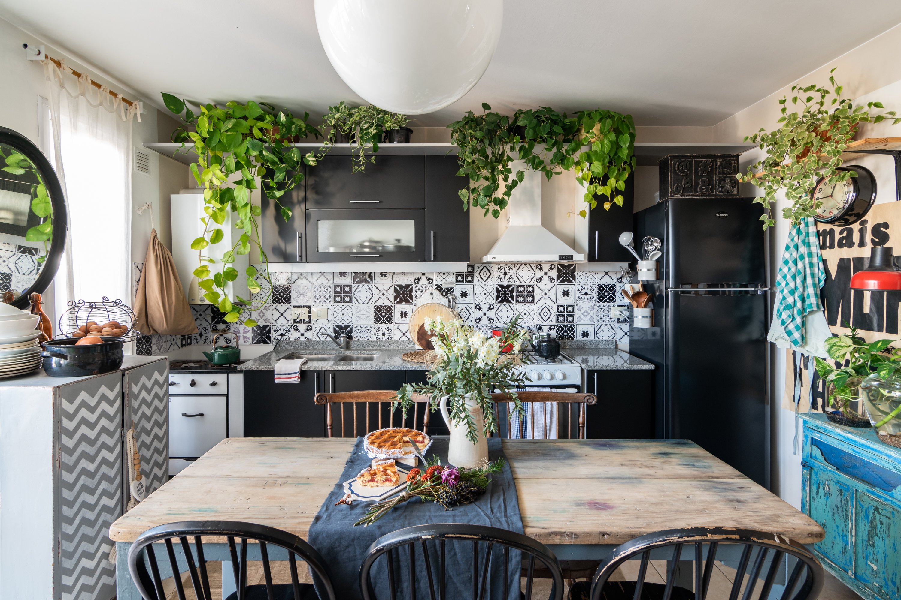 Bohemian Kitchen Inspirations Plants Patterns And More Apartment Therapy