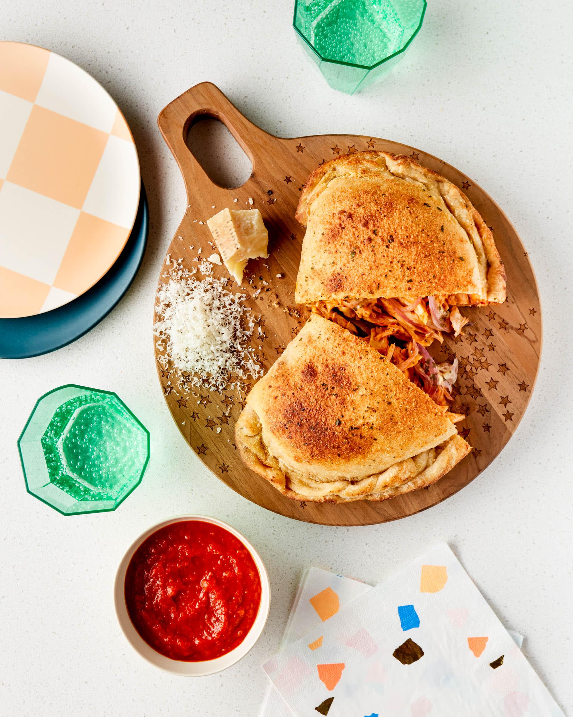 SPONSORED POST: Recipe: BBQ Ranch Chicken Calzone