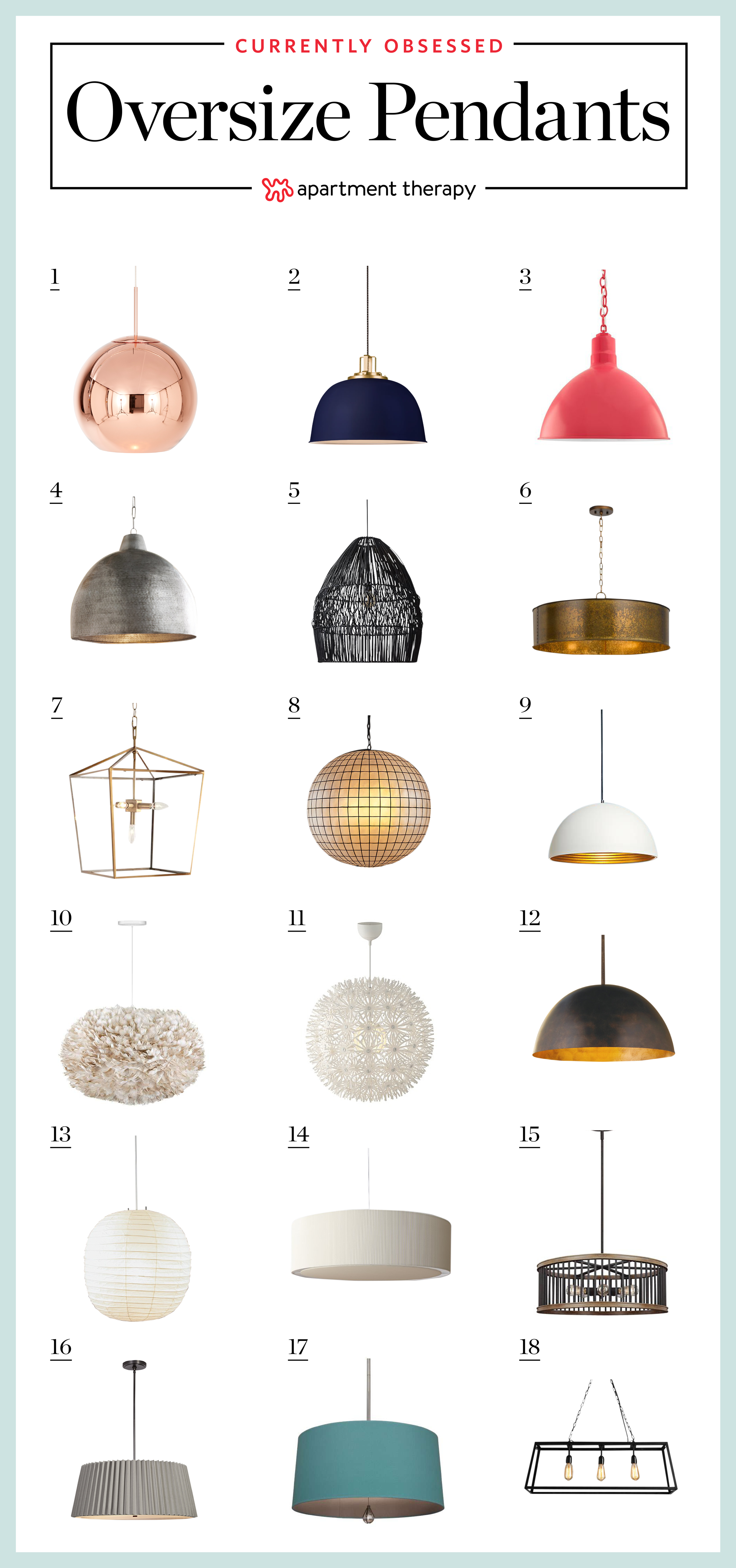 Rooms With Oversize Pendant Lighting Where To Buy Them Apartment Therapy