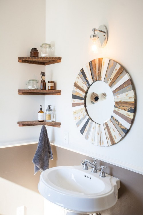 Small Bathroom Best Wall Shelves Storage Ideas Apartment Therapy