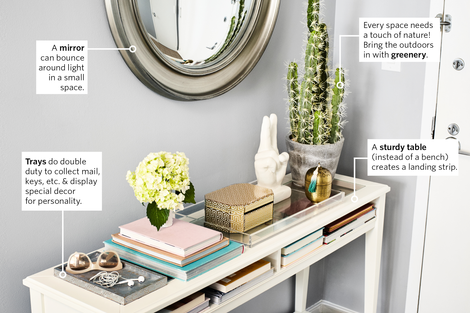 Picture of: How To Style The Perfect Console Or Entryway Table Apartment Therapy
