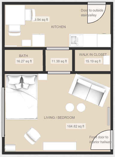 5 Genius Ideas For How To Layout Furniture In A Studio Apartment Apartment Therapy