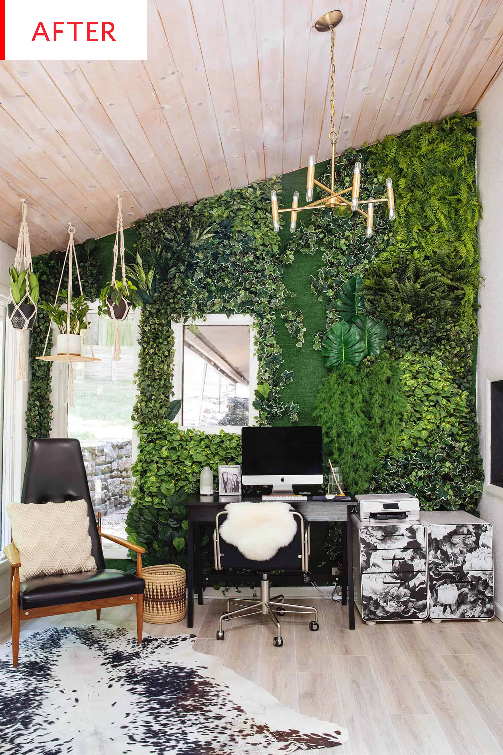 Fake Plant Living Wall Decor Before After Photos Apartment Therapy