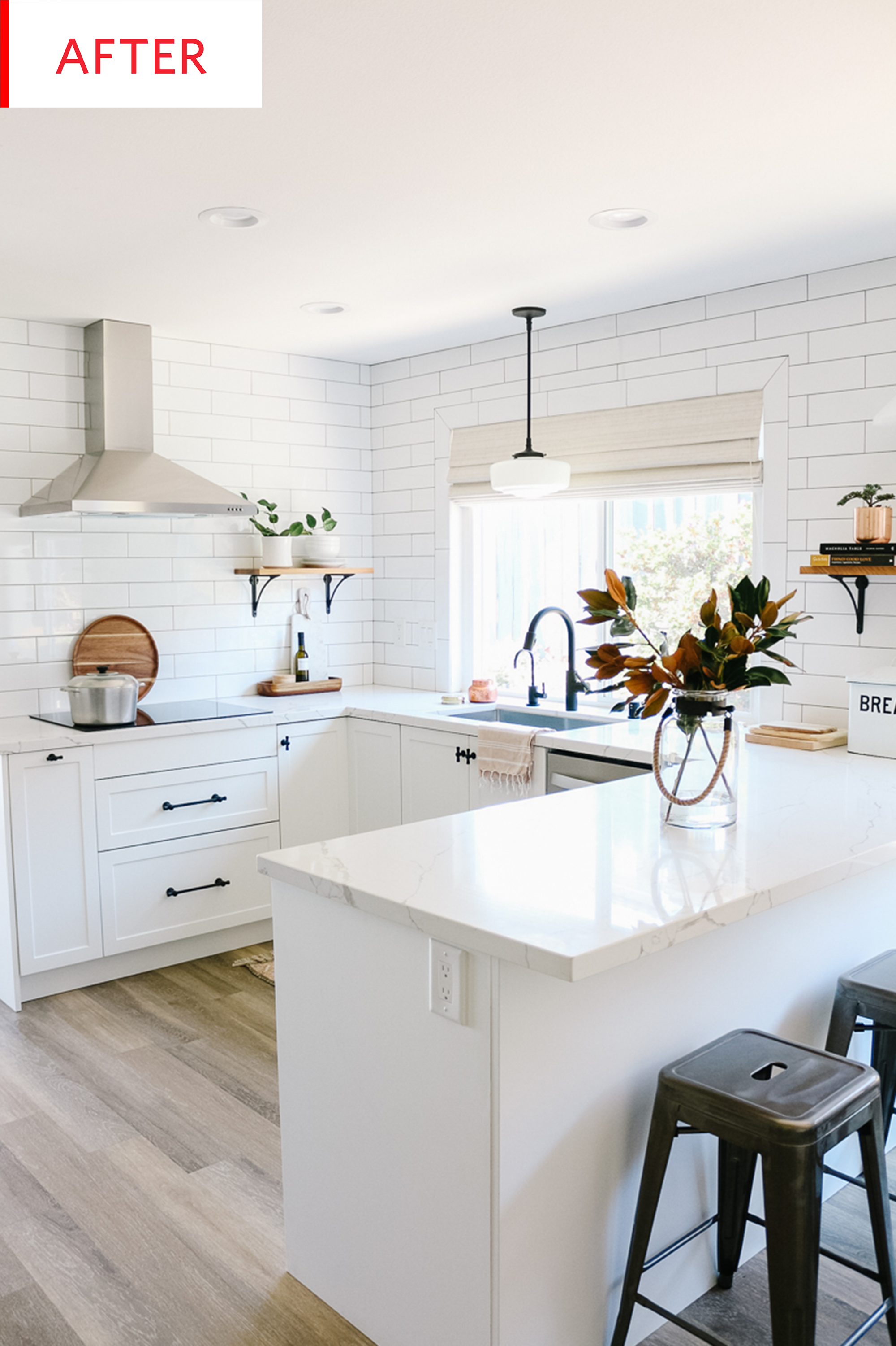 White Ikea Kitchen Shaker Cabinets Remodel Photos Apartment Therapy
