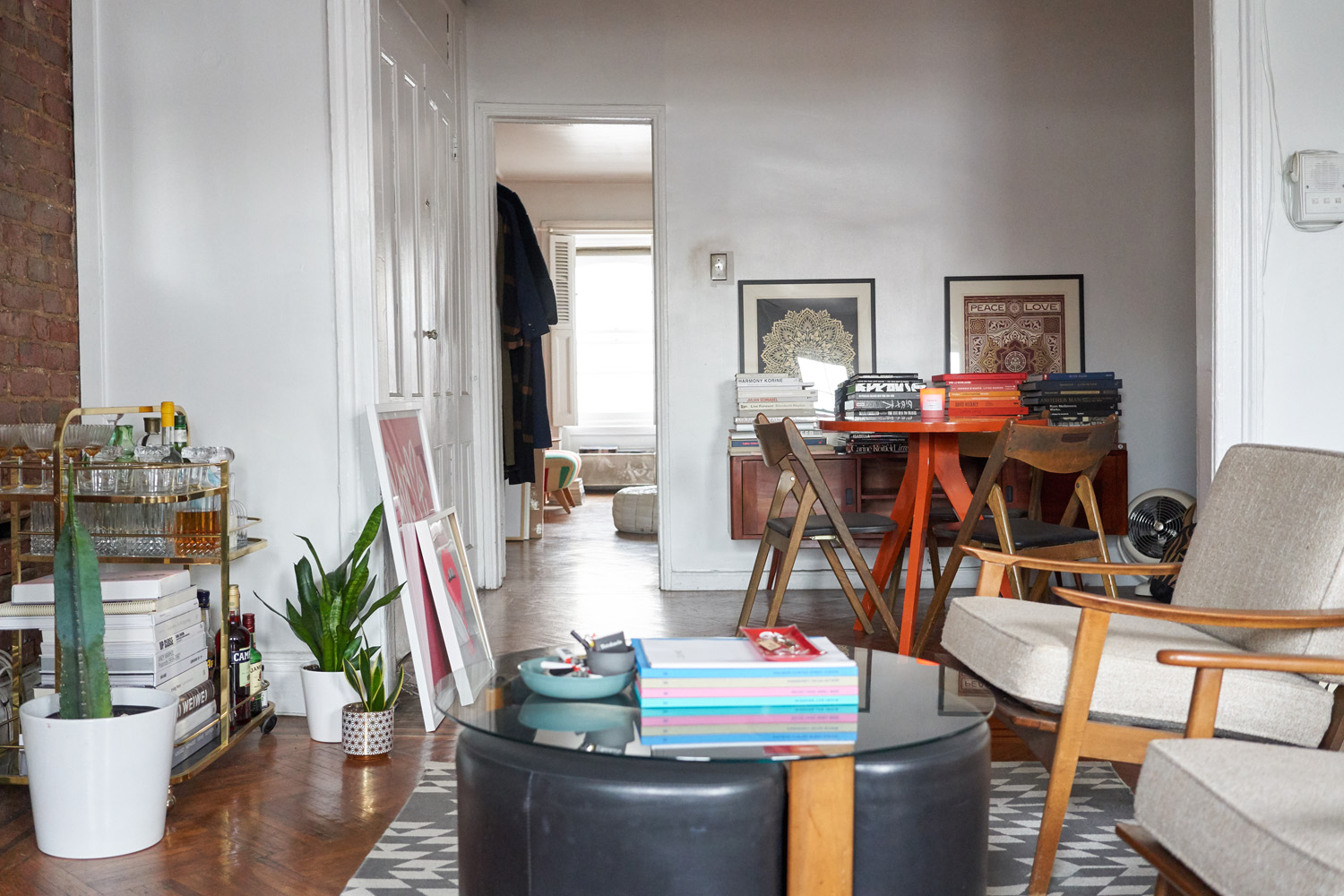 How To Fit A Dining Table In A Small Living Room Apartment Therapy