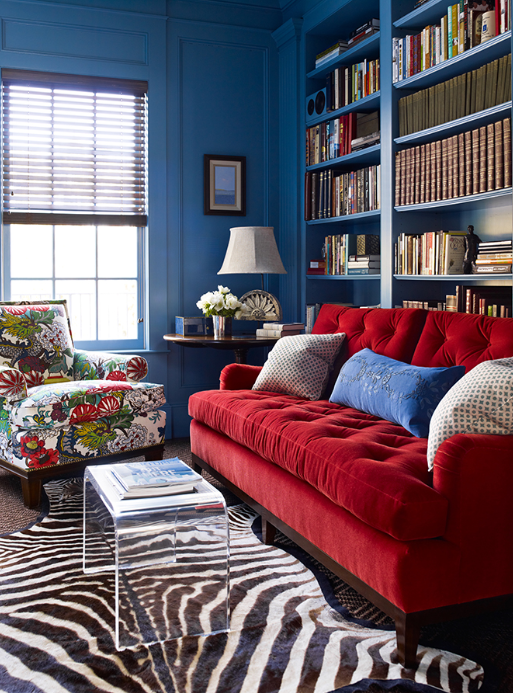 Red And Blue Room Design Ideas Red And Blue Decor Apartment Therapy