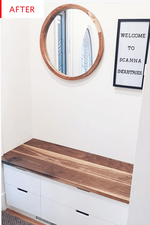 Ikea Nordli Entryway Storage Bench Hack Photos Apartment Therapy