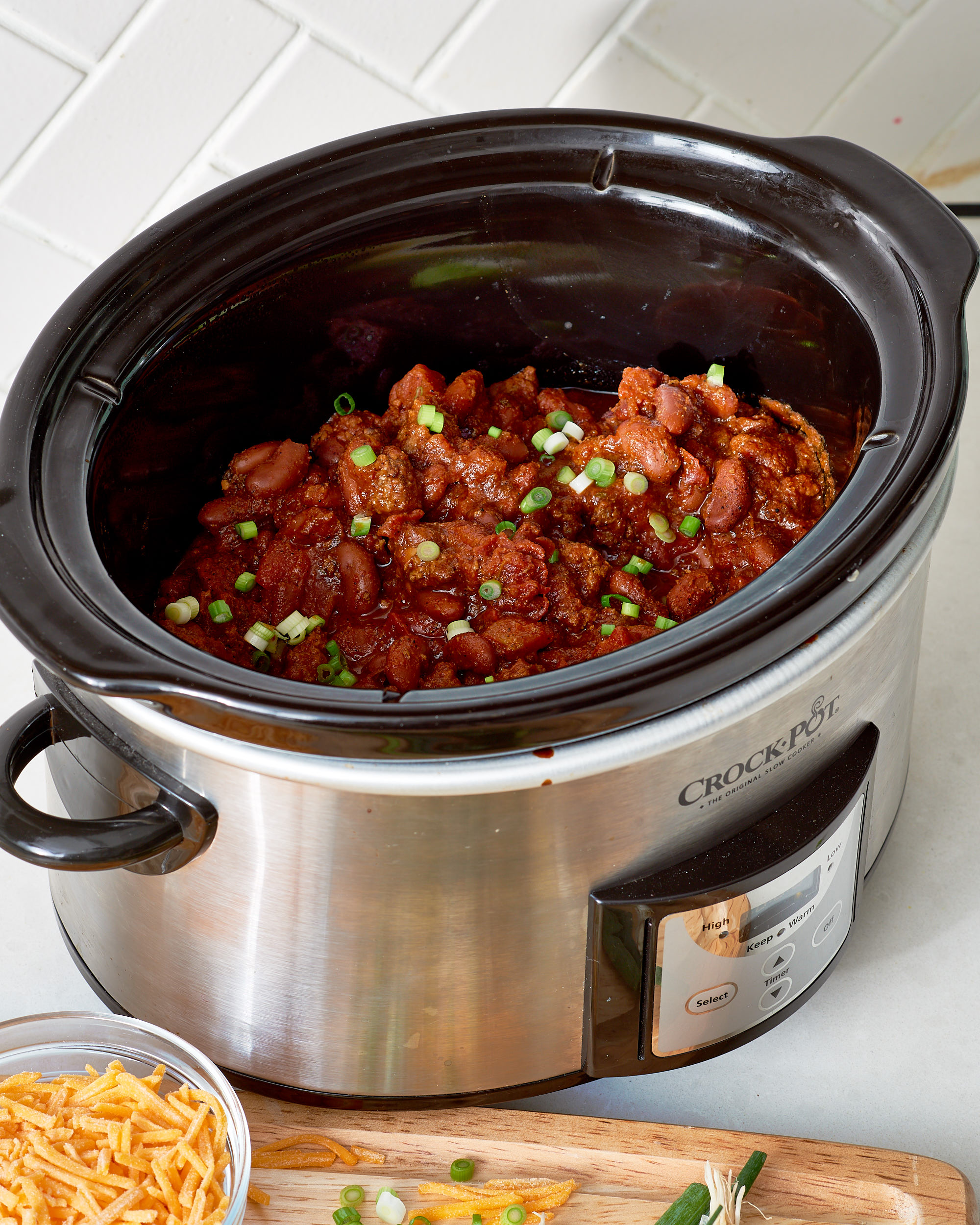 How To Make Slow Cooker Beef Chili The Simplest Easiest Method Kitchn