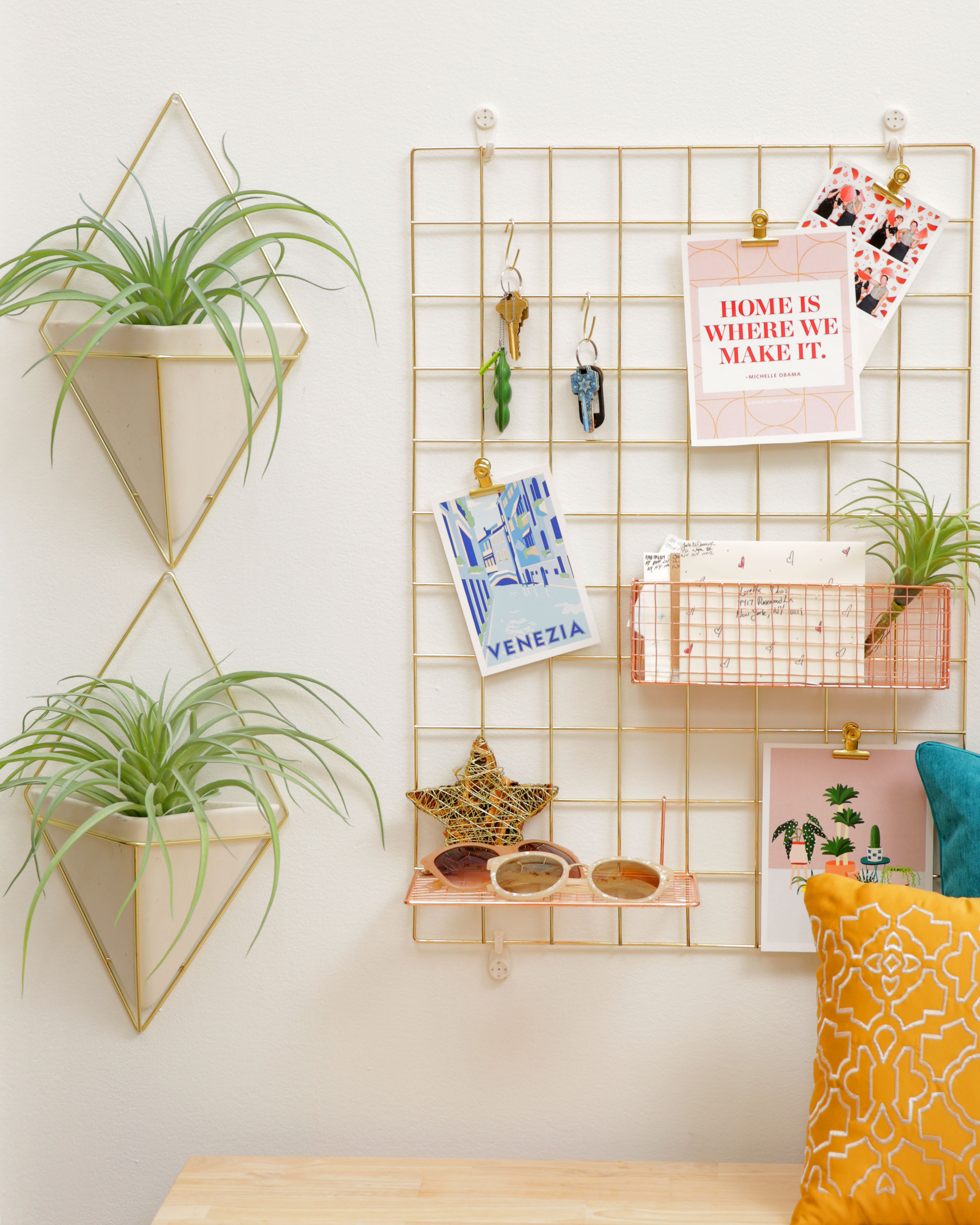How To Organize With Wire Grid Wall Panels Apartment Therapy