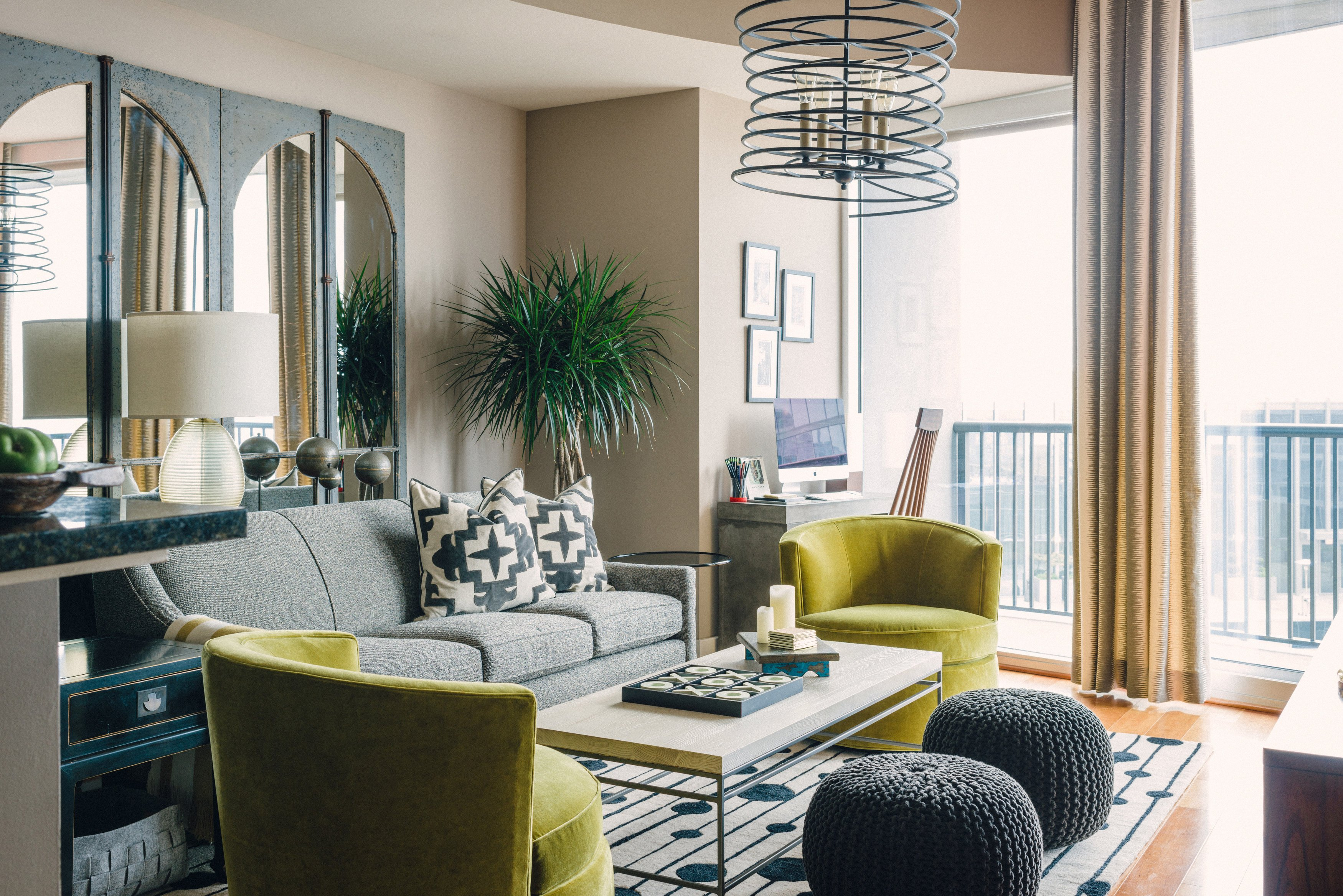 Excel At Extra Seating Living Rooms With Perfect Pouf Placement