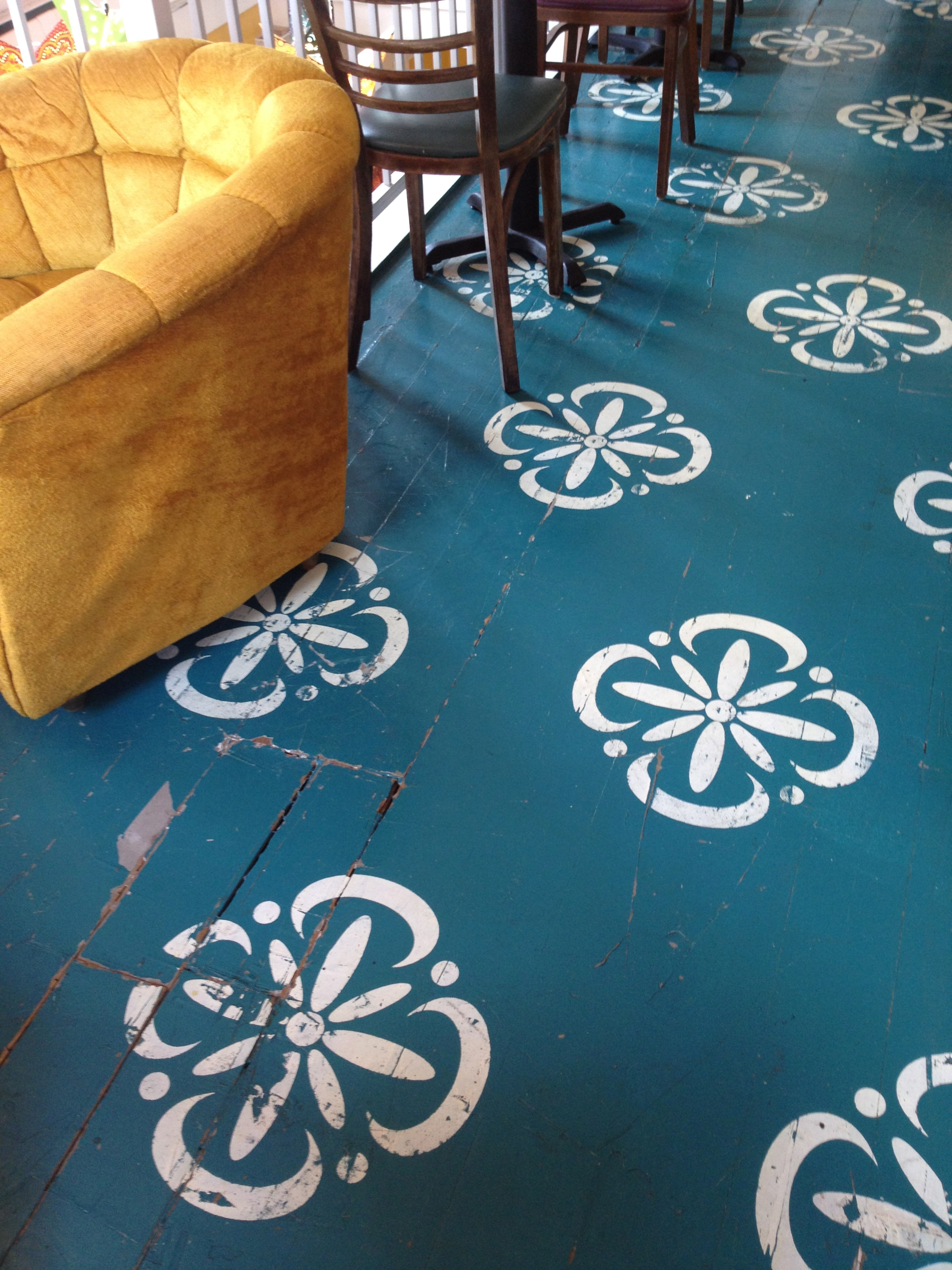 Hardwood Floor Paint Ideas Patterns Stencil Apartment Therapy