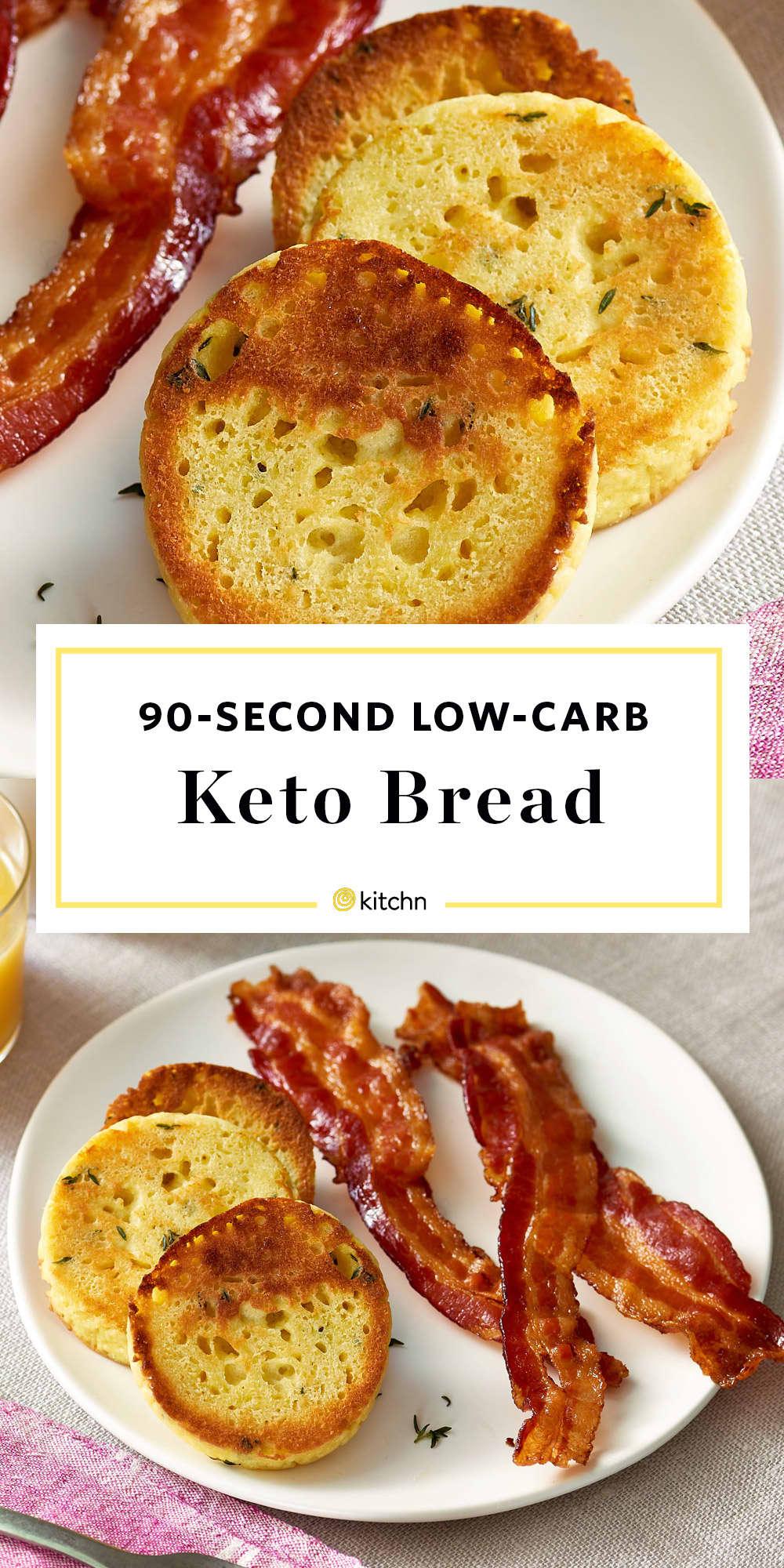 Keto Bread Recipe Review Low Carb 90 Second Bread Kitchn