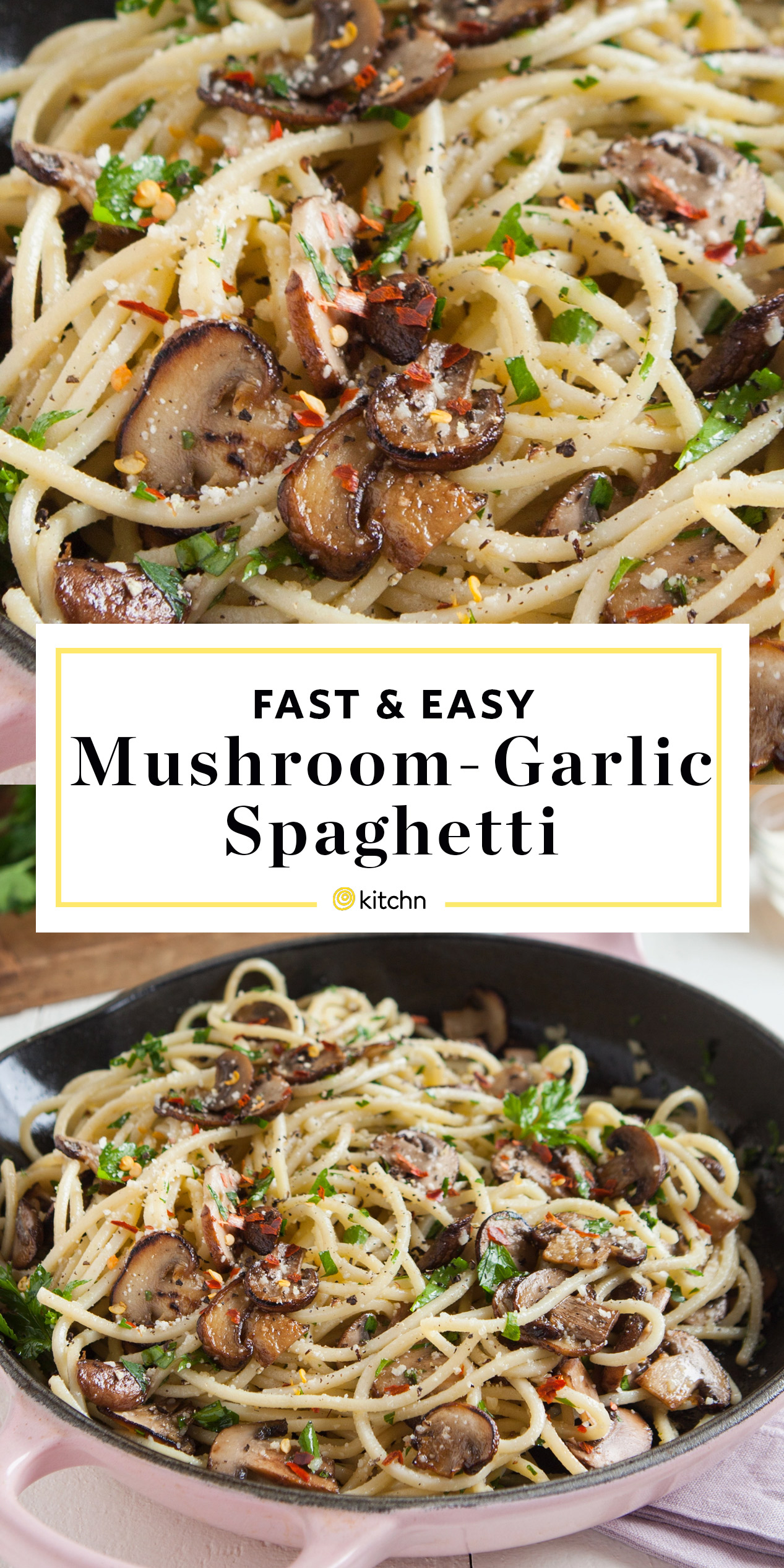 Recipe Easy Mushroom And Garlic Spaghetti Kitchn