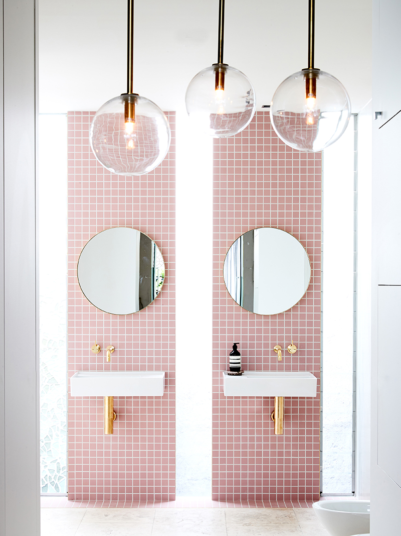 11 Modern (& Sophisticated) Pink Bathrooms  Apartment Therapy