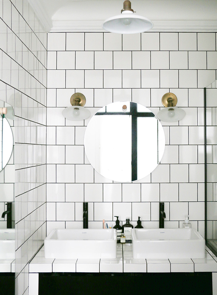 White Square Tiles A Great Alternative To Subway Tile Apartment Therapy